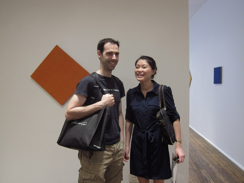 Jichen Zhu and her friend Santiago Ontañón at the VOX building.