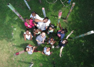 "The group photo at the end of the first ""Pole Photography"" workshop...a nice aerial shot of all who participated."