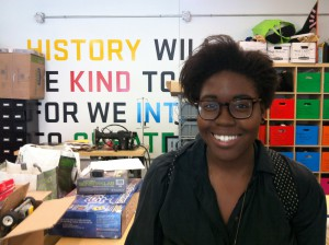Adesola Onitiri, intern at the DM+D and voice of our podcast